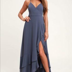 Lulus bridesmaid high low maxi dress